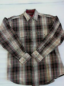 """BROWNING """"Super Naturals"""" Brown Striped Long Sleeve Men's Shirt size M/M"""
