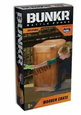 Bunkr Build Your Own Battlezone Inflatable Wood Crate for Nerf,Laser. Nib