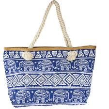 Print Tote Beach Bag Lux Accessories Women's Elephant Frieze