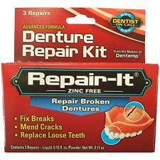 Dentemp Denture Repair Emergency Denture Repair Kit Safe & Easy To Use 3 Repairs