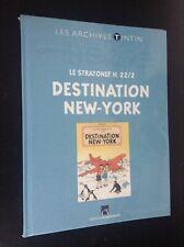 Archives Tintin Destination New York  Hergé  TBE sous cello jamais ouvert