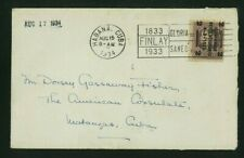 1Cuba 1934 Cover Havana to Matanzas franked Scott 318