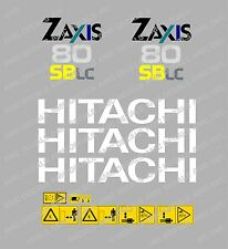 HITACHI ZAXIS 80 SBLC MINI DIGGER DECAL STICKER SET WITH SAFETY WARNING SIGNS
