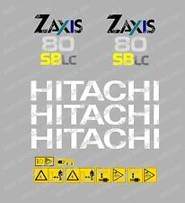 HITACHI ZAXIS 80 SBLC MINI DIGGER DECALCOMANIA STICKER Impostato Con SAFETY Segnali di avvertimento