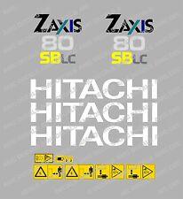 HITACHI ZAXIS 80 SBLC MINI BAGGER-AUFKLEBER-AUFKLEBER-SATZ