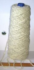600g cone of 100% British undyed Swaledale Thick Chunky knitting wool Cream Grey
