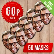 50 PACK - DIY PERSONALISED FACE MASKS - CUSTOM FACE MASKS - SELF ASSEMBLY KIT