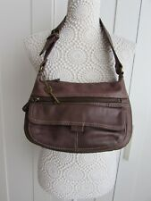 Fossil 1954 Brown Leather Shoulder Bag With Key