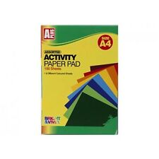 A Plus A4 100 Sheet Activity Paper Pad with 8 Colours