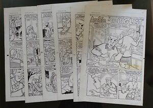 Archie Comics #456 Original Comic Art Complete 6-page Story by Stan Golberg