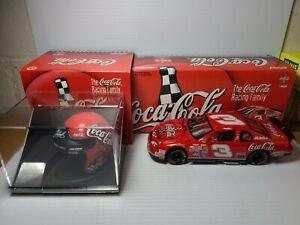 1998 Dale Earnhardt Sr #3 Coke Car Bank & Helmet NASCAR Action Die-Cast MIB