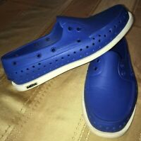 Native Adult Howard Rubber Slip On Blue Loafers Sz Mens 4 Womens 6 Boat Shoes