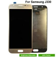 SAMSUNG SM-J330FN J3 2017 J330F LCD Touch Screen Display Gold with Adhesive