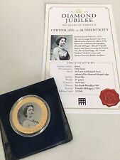 Westminster Coins Diamond Jubilee 24 Carat Gold Plated Fifty Pence