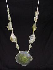BUTW Antique Iridescent 1st Century Roman Glass Bead Pendant Necklace 6805K