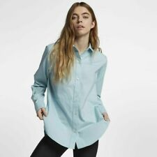 4a24aae9d Hurley Womens (size Medium) Wilson Button-down Blue Long Sleeve Top Shirt
