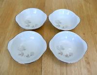 Vintage Noritake China ROSAY 6216 Set of 4 Lugged Cereal Bowls, EXCELLENT