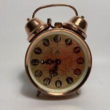 Vintage Retro Meister Anker Copper Metal Alarm Clock W Germany
