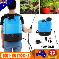 12V 16L Electric Weed Sprayer Rechargeable Backpack Farm Garden Pump Spray Set