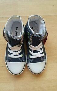 Boys Ladybird Navy Hi Top Canvas Sneakers sizes 4/21 - 12/31 New