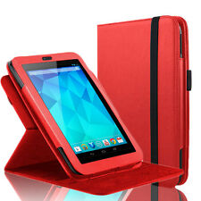 "360 Rotating Slim Leather Case Smart Cover Stand For Google Nexus 7"" Tablet Red"
