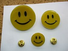 "ACID HOUSE RAVE MUSIC SMILEY FACES SET ALL ""ORIGINAL"" VINTAGE PIN BADGES 1980s"