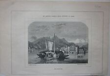 1853 LAGO MAGGIORE ISOLA BELLA xilografia The Art Journal Stresa