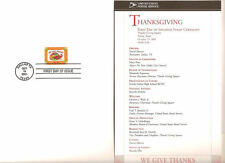 #3546 First Day Ceremony Program 34c Thanksgiving Stamp w/First Day Cover