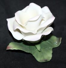 Midwest of Cannon Falls Pink Rose Petals Green Leaves Porcelain Bisque Center pc
