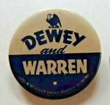 1948 THOMAS E DEWEY EARL WARREN REPUBLICAN PRESIDENTIAL CANDIDATE pinback button