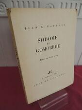 Jean Giraudoux Sodome et gomorrhe Exemplaire sur vélin, numéroté