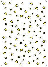 Artigianato troppo Embossing FOLDER STARS ctfd3002