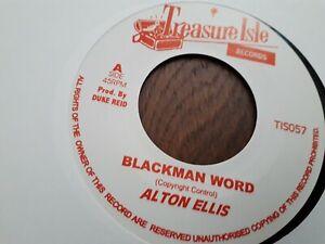 "Alton Ellis ,  Blackman Word , A Ellis & Lloyd , I Can't Stand It , 7"" Treasure"