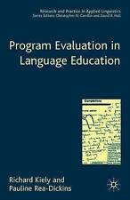 Évaluation du programme dans l'enseignement des langues (research and practice in applied ling