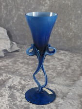Vase Glasvase Pokal Kelch Handarbeit mundgeblasen Glashütte ? Joska ?