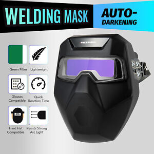 Masque A Souder amovible Automatique Assombrissant De Soudage Lunette 2 Capteurs