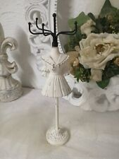 Jewelry Stand Jewelry Bust Jewelry Holder White Vintage Shabby landhaus
