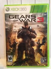 Gears of War 3 (Microsoft Xbox 360, 2011) shooter video game used w/stickers