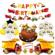 Construction Vehicle Excavator Balloons Set Foil Boys Favor Birthday Party Decor