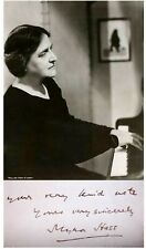 1930 Pianist MYRA HESS Hand SIGNED AUTOGRAPH LETTER + ACTION PHOTO + ALS + MAT