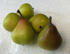 Miniature Artificial Green Blush Pears Bag of 48, 1.25""
