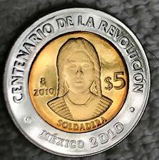 2010 MEXICO  $5 PESOS 100 ANV REVOLUCION  SOLDADERA  BRILLANTE P R O O F