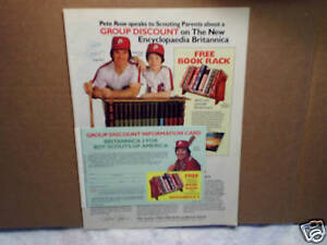 1981 PETE ROSE,JR Encyclopaedia Britannica philadelphia phillies,AD PRINT ONLY