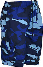 Mens summer shorts camouflage camo army cargo combat