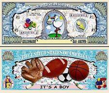 C' Is One Boy! Ticket Million Dollar! Thank You Congratulations Birth Baby