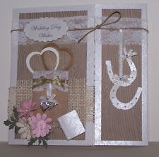 Wedding Vintage/Country handcrafted card,
