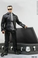 POPTOYS 1/6 F21 ROBOT with Coffin Male Leather coat suits F 12'' ACI/KP Body