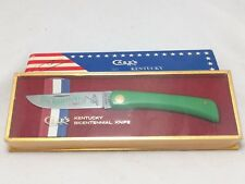 1974 CASE XX USA KENTUCKY BICENTENNIAL SOD BUSTER GREEN KNIFE 1794-1994