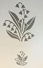 Lily Flor Planta A4 Mylar reutilizable Plantilla Aerógrafo Pintura Arte Craft