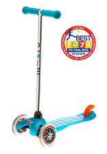 New Micro Mini Kick Scooter Toddler Smooth Quiet Ride w/ Non Marking Wheels Aqua